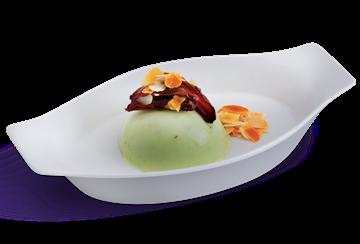 Pistachio Almond Ice Cream Pudding